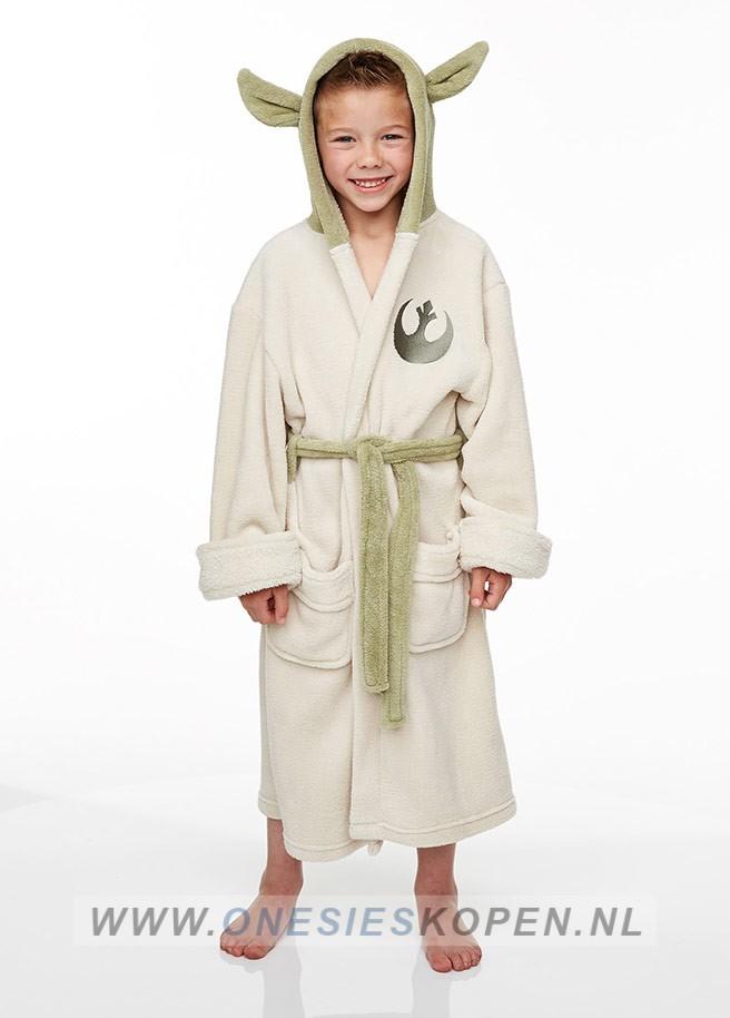 02199547790 Officiële STAR WARS Yoda badjas kids - Jumpsuit kopen.nl