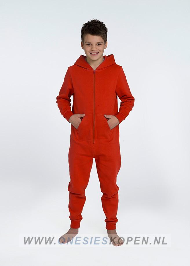 Rode jumpsuit Comfy uniseks kids - Jumpsuit kopen.nl d48d5ee19